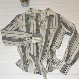 Cloth & Stone linen blend button up XS